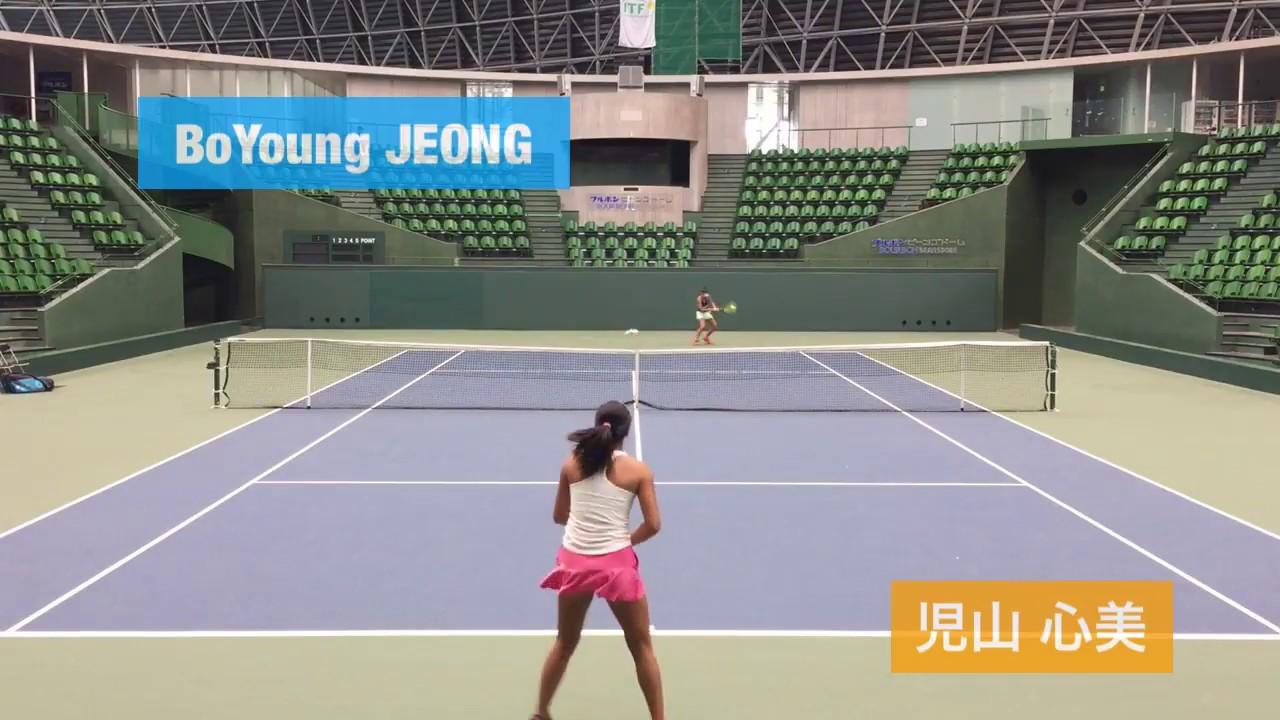 【2018兵庫国際①/QF】児山心美 対 BoYoung JEONG