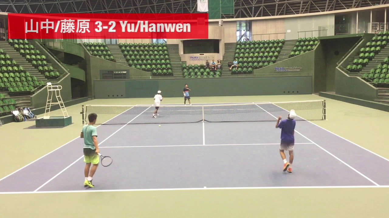 【2018兵庫国際②/QF】山中太陽/藤原智也 対 Hanwen Li/Yu Zhang
