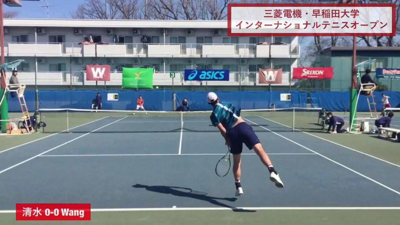 【2019ITF早稲田/1R】清水悠太(三菱電機) 対 A. Wang(中国)