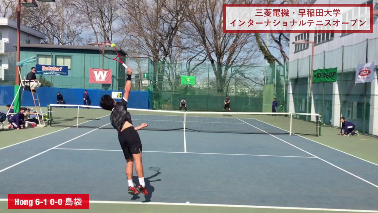 【2019ITF早稲田/2R】島袋将(早大) 対 S. C. Hong(韓国)